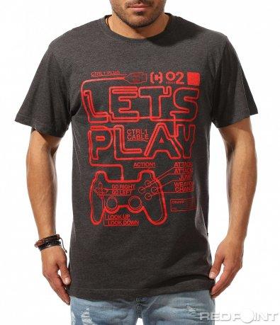 Щура тениска с щампа 9534