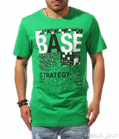 Ярко зелен t-shirt с надписи 9535