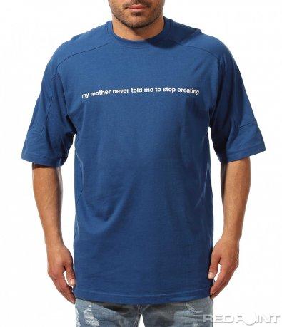 Семпла тениска с издължени ръкави 9536