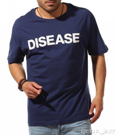 Тъмна тениска с надписи 9532