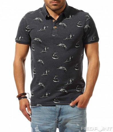 Впечатляваща тениска с яка Cropp 9539
