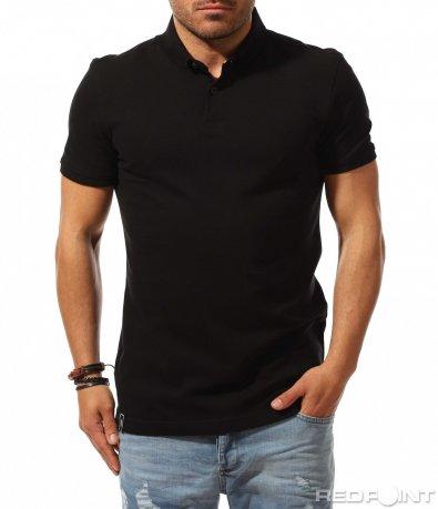 Едноцветна тениска с яка Cropp 9540