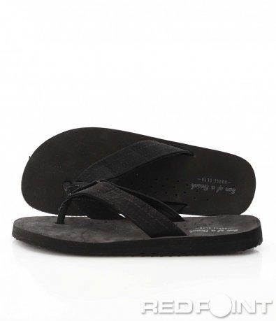 Класически черни чехли 9566