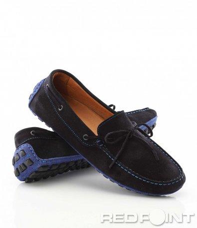 Тъмно сини мокaсини 9605