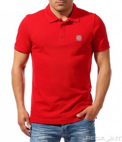 Изчистен модел тениска с яка 9613