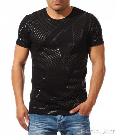 Класна тениска с бял кант 9616