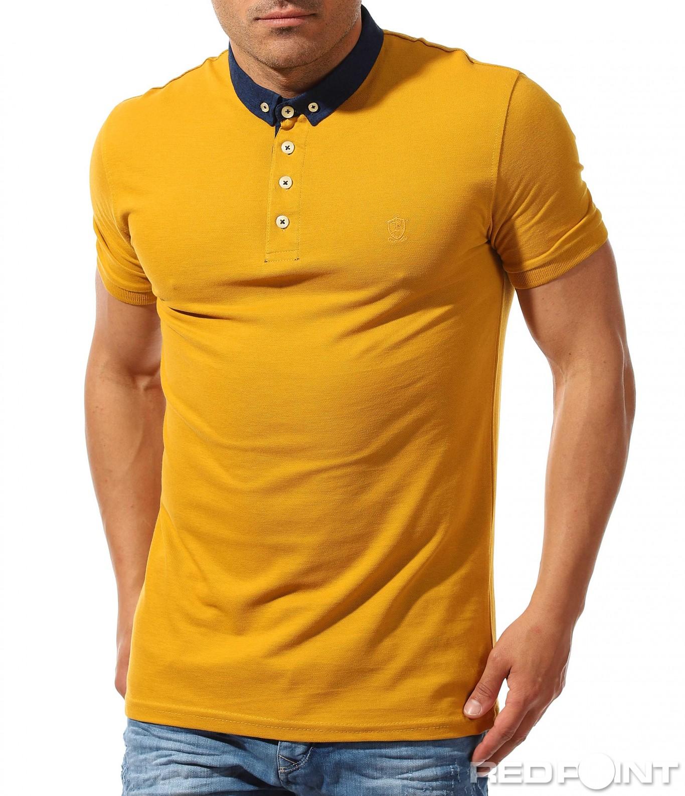 47aec1304c9 Изчистена поло тениска с малка яка 9620 - Red Point Варна