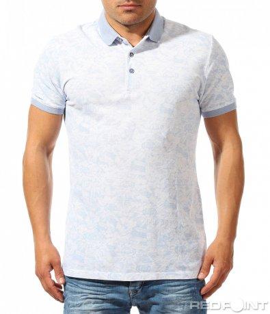 Впечатляваща тениска с яка 9623