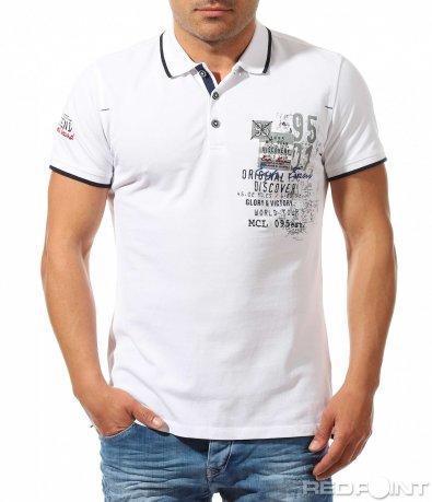 Памучна тениска с яка 9624