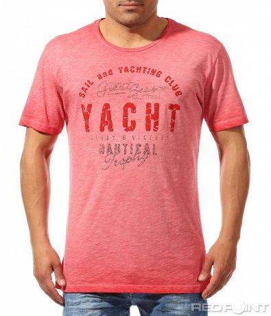Коралова тениска с надпис 9627