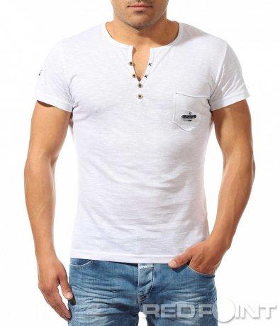 Изчистена тениска с джоб 9633