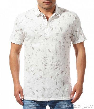 Свежа тениска с яка 9636