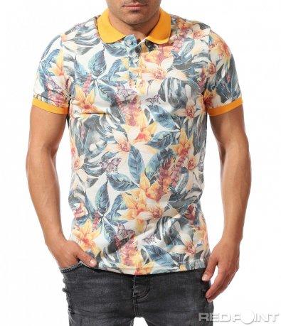 Цветна тениска с принт 9645