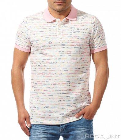 Свежа тениска със семпъл принт 9647