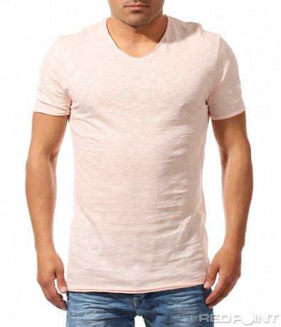 Едноцветна свежа тениска 9649
