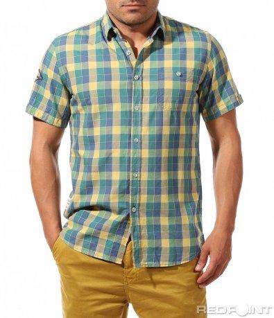 Спортно елегантна риза с къс ръкав 9654