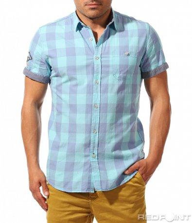 Ефектна риза в кариран десен 9655