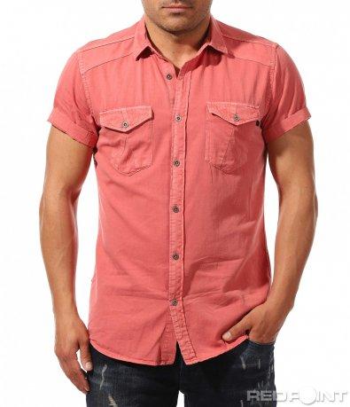 Спортна риза в цвят корал 9656