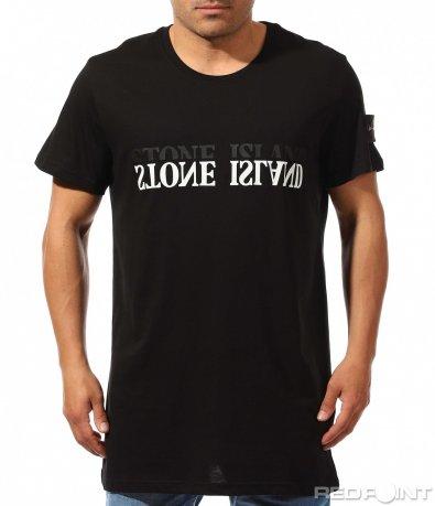 Семпла тениска с надпис 9660