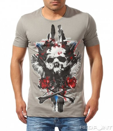 Авангардна тениска с щампа 9661