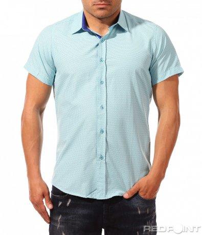Свежа лятна риза с къс ръкав 9665