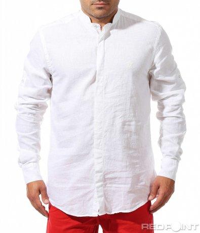 Ленена риза с дълъг ръкав 9666