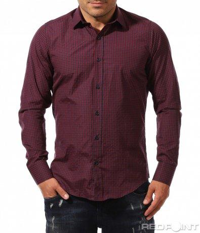 Семпла риза в класическо каре 9673