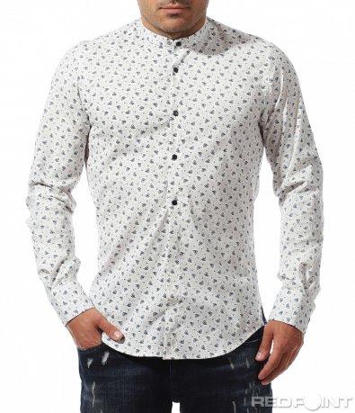 Вечерна риза в бял цвят 9676