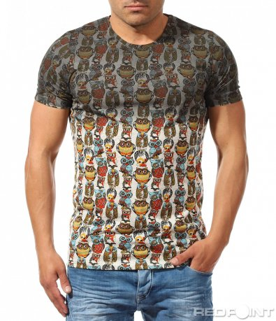 Щура тениска с бухал 9684