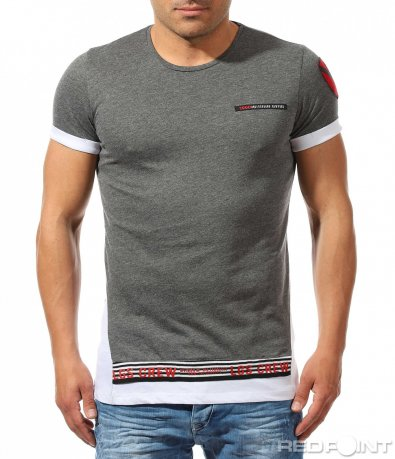 Впечатляваща тениска с оригинална кройка 9687