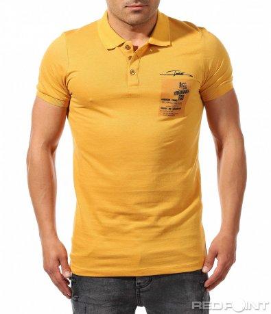 Стилна тениска с яка 9688