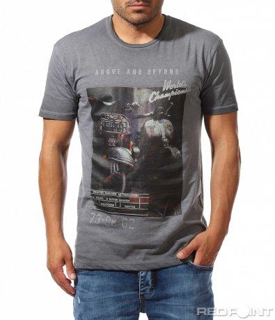 Ежедневна тениска с апликация 9748
