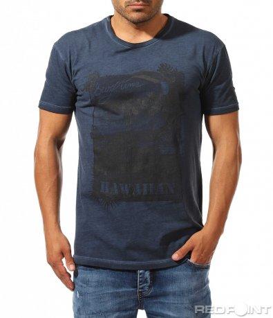 Автентична тениска с лятна щампа 9749