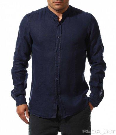 Класическа риза от лен 9753