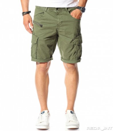 Карго панталонки с ефект 9756