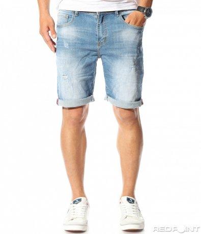 Jeans scurt monocrom 9758