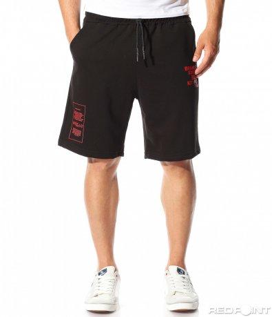 Черни къси панталони с акцент 9761