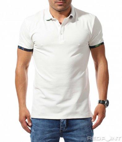 Поло тениска с флорални акценти 9769