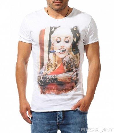 Тениска с впечатляваща апликация 9775