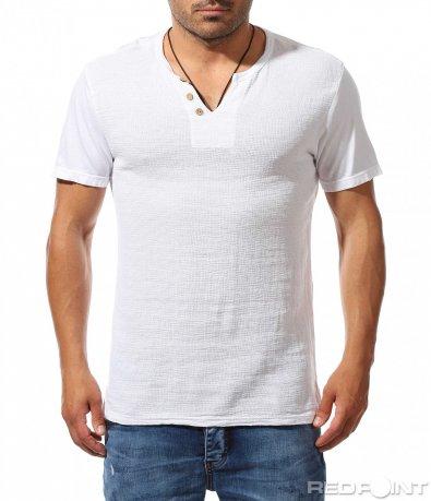 Лятна тениска с ефектно деколте 9777