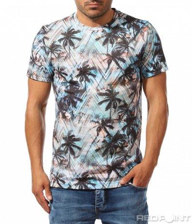 Ефектна тениска с летен принт 9786