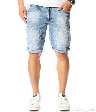 Jeans scurt albastru deschis 9803