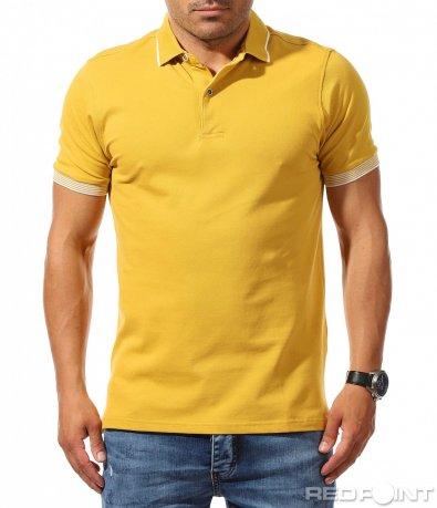 Семпла тениска в изчистен десен 9817