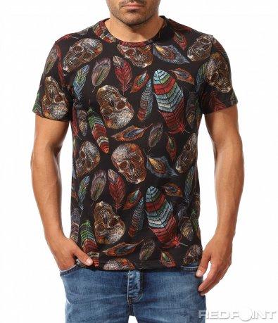 Впечатляваща тениска с цветен дизайн 9812