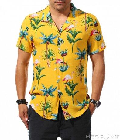 Ярка риза с къс ръкав 9766