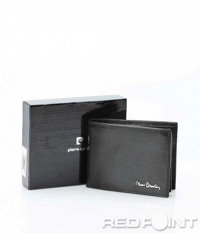 Стилен портфейл от черна кожа 9848
