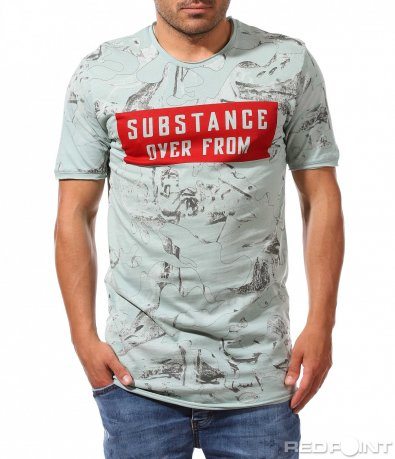 Ефектна тениска с ярък надпис 9883