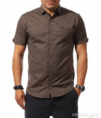 Ефектна риза с къс ръкав 9886