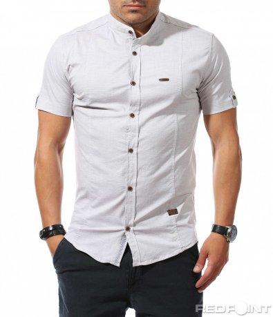 Вталена риза с къс ръкав 9890