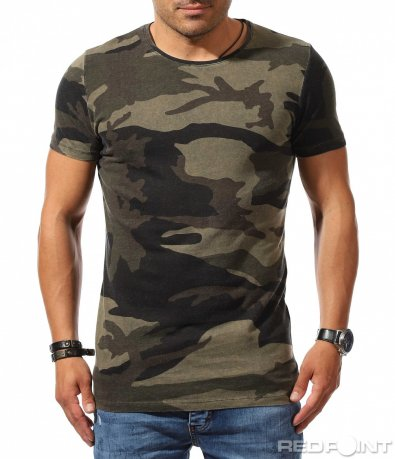 Класическа тениска с принт 9902